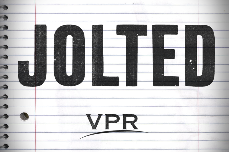 Logo for JOLTED, a five-part podcast about a school shooting that didn't happen, the line between thought and crime, and a Republican governor in a rural state who changed his mind about gun laws.