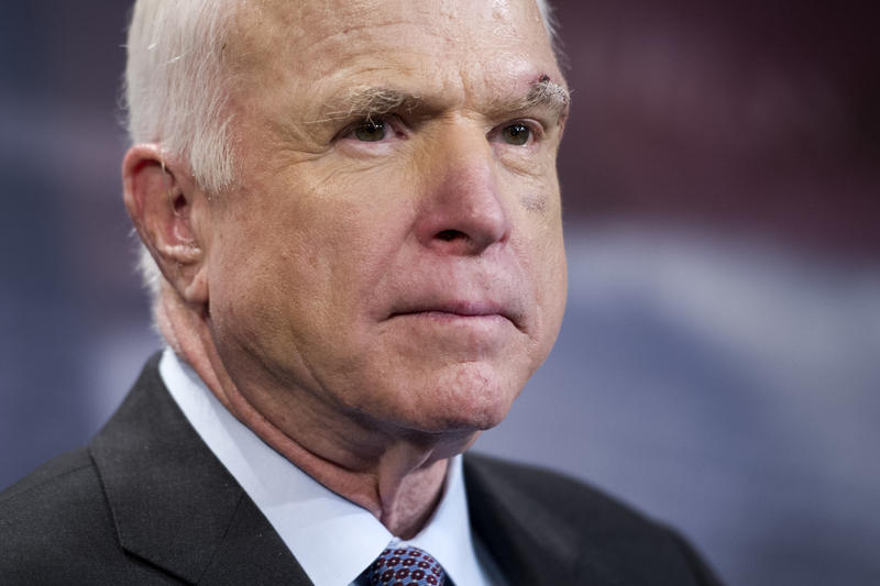 Headshot of Republican Sen. John McCain.