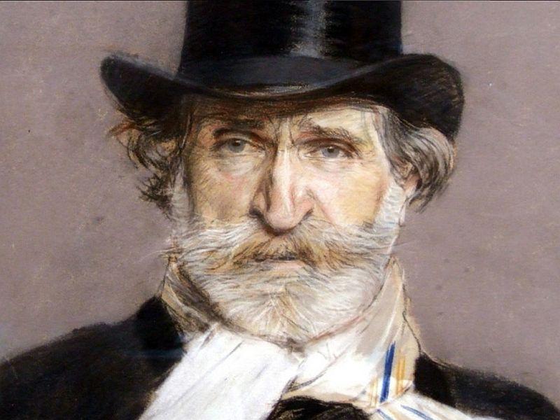 Portrait of Giuseppe Verdi by Giuseppe Bordini.