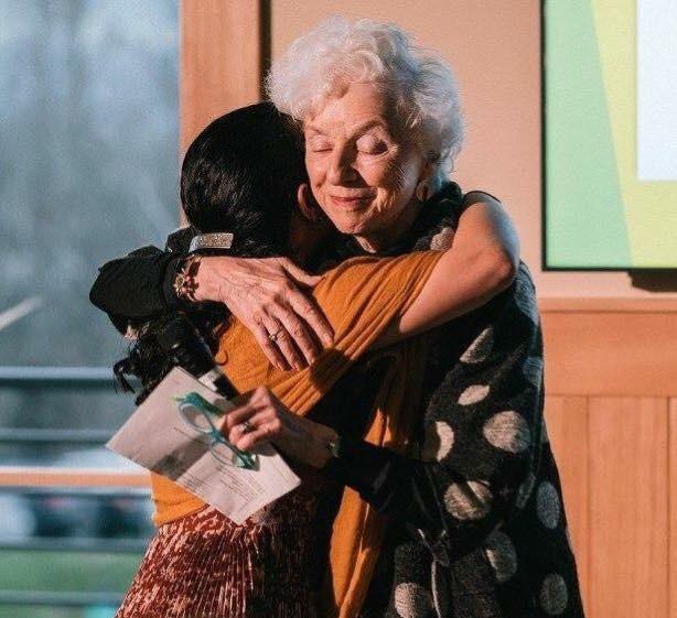 Kesha Ram thanked Madeleine Kunin for her service at the Emerge Gala, 2016.