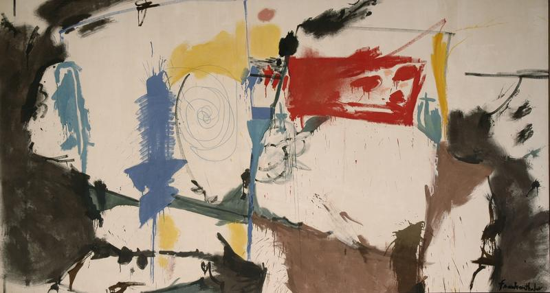 "The painting ""Red Square"" by Helen Frankenthaler."