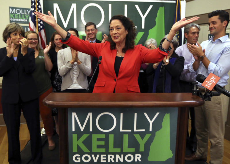 Molly Kelly won the Democratic gubernatorial primary in New Hampshire Tuesday night.