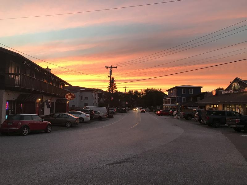 Sunset in Montgomery Center on September 6.