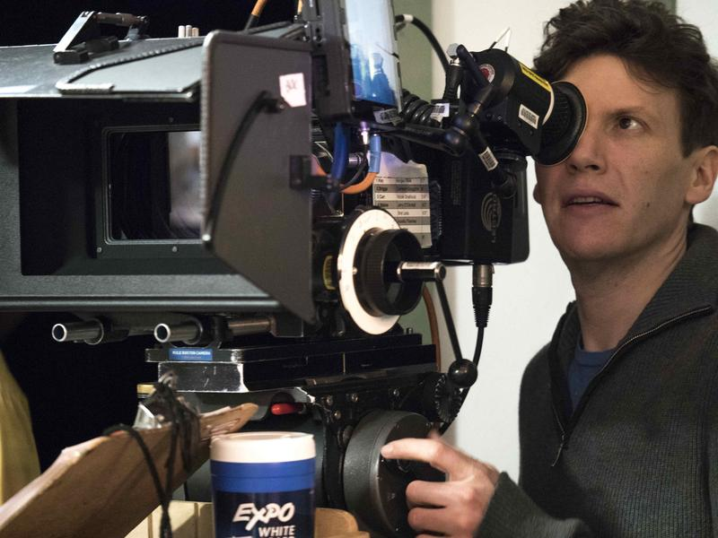"""Director of photography Brad Heck shoots a scene on Vermont filmmaker Jay Craven's new project """"Wetware."""""""