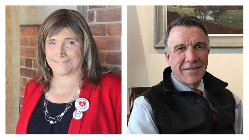Democratic gubernatorial candidate Christine Hallquist and Republican incumbent governor Phil Scott say they have very different leadership styles in approaching the top issues facing the state.