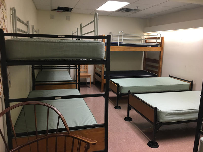 One of the rooms at the low-barrier shelter in Burlington. The shelter opens Nov. 1 and this year will remain open until June 15.