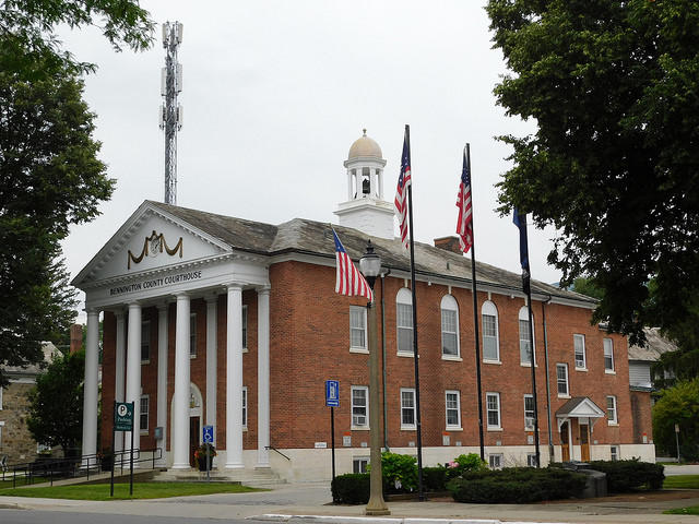 The Bennington County Courthouse. Incumbent State's attorney Erica Marthage faces a challenge from her former deputy Christina Rainville.