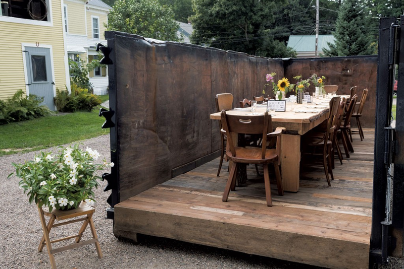 A Vermont version of The Salvage Supperclub, launched in New York, was recently held in a dumpster to bring attention to food insecurity.