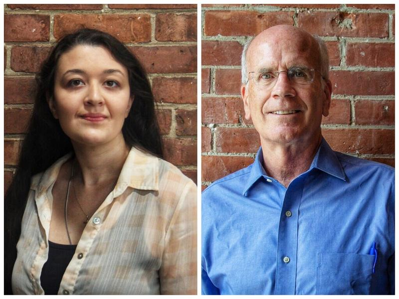 Republican Anya Tynio, left, is challenging incumbent Democrat Peter Welch for Vermont's seat in the U.S. House.