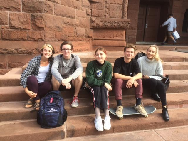 Vermont's voting laws make the state a national leader with higher election turnouts. These UVM students can vote here or in their home community. From left to right Hannah Bryant, Finlay Jacobs-Buchanan, Justine Henninger, Ben Koblensky and Emma Black.