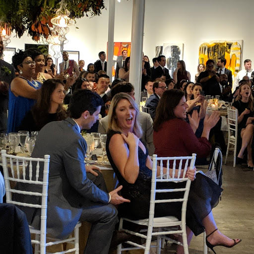 The wedding, held in an art gallery, was 'a glorious coming together of a wide spectrum of diverse people, cultures, sexuality, ages, and religions.'