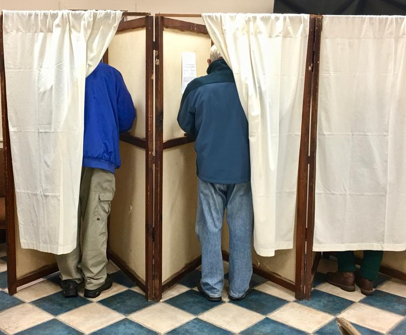 Voters in Chittenden cast ballots on Election Day.