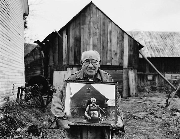 This image of Fred Tuttle is among the iconic portraits in Peter MIller's 'A Lifetime of Vermont People.'.