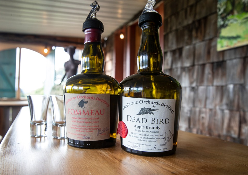 The pie and doughnut house at Shelburne Orchards now features a tasting room where visitors can sample their apple brandy.