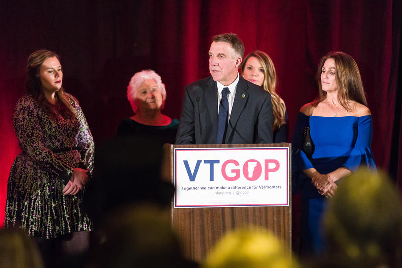 Republican Gov. Phil Scott won his re-election bid in Vermont's gubernatorial race.