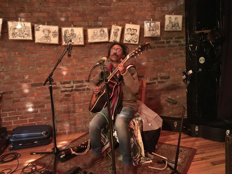 Mikahely performs on stage at Radio Bean in Burlington.