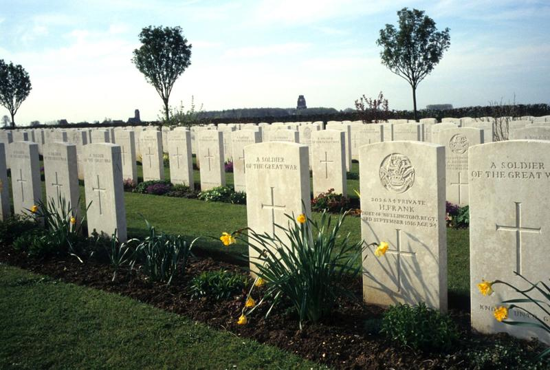 Officers and enlisted men, known and unknown, are buried side by side in Flanders fields.