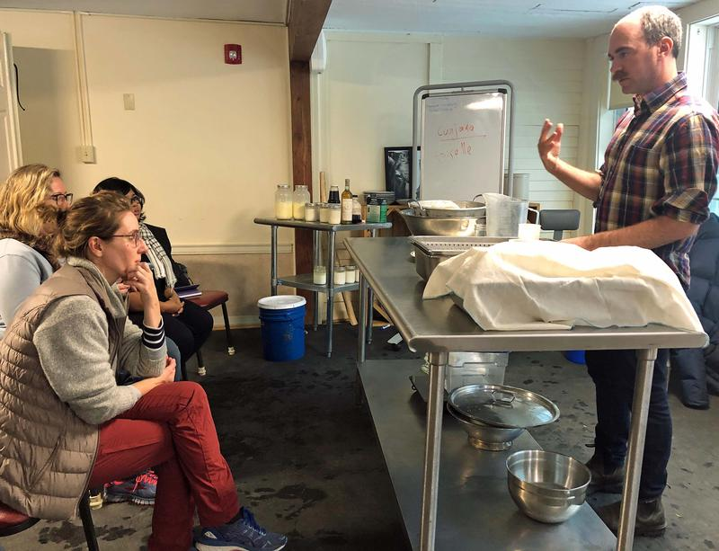 Author and cheesemaker David Asher teaches a continuing education course on natural cheesemaking at Sterling College.