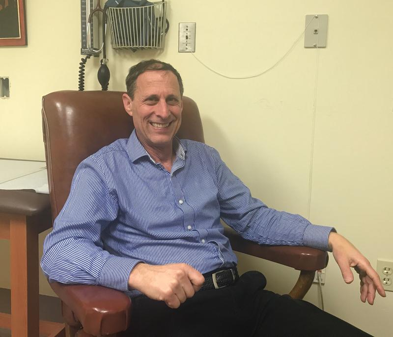 Dr. John Brooklyn treats patients in recovery from addiction in his office at the Chittenden Clinic in South Burlington and at several other locations in the area.