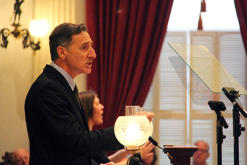 Former Gov. Peter Shumlin delivers his state of the state speech in 2014, in which he focused exclusively on the issue of opioid addiction.