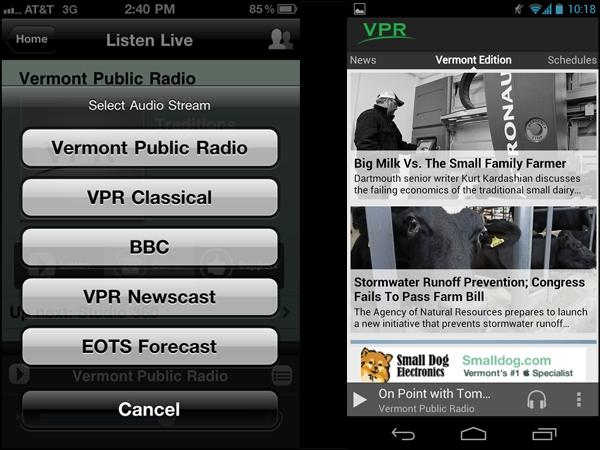 VPR iPhone and Android Apps