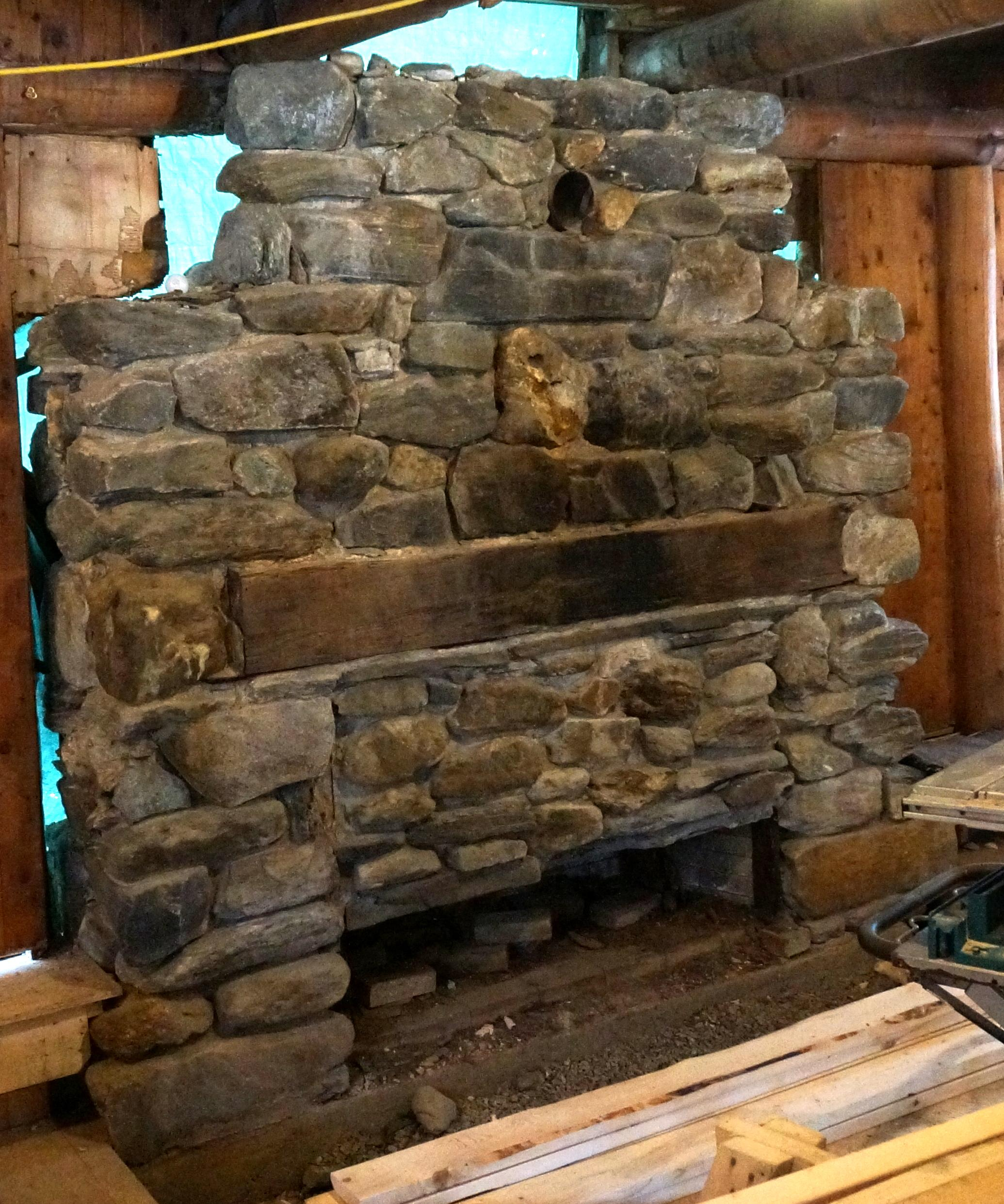 giant fieldstone fireplace | Historic Base Lodge To Become Visitor's Center | Vermont ...