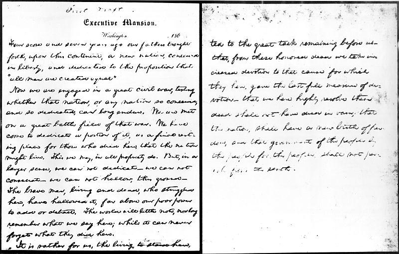 the meaning of the gettysburg address There were five versions of the gettysburg address that were acknowledged by abraham lincoln in his lifetime here are those versions, along with the ap wire copy from november 1863 key.