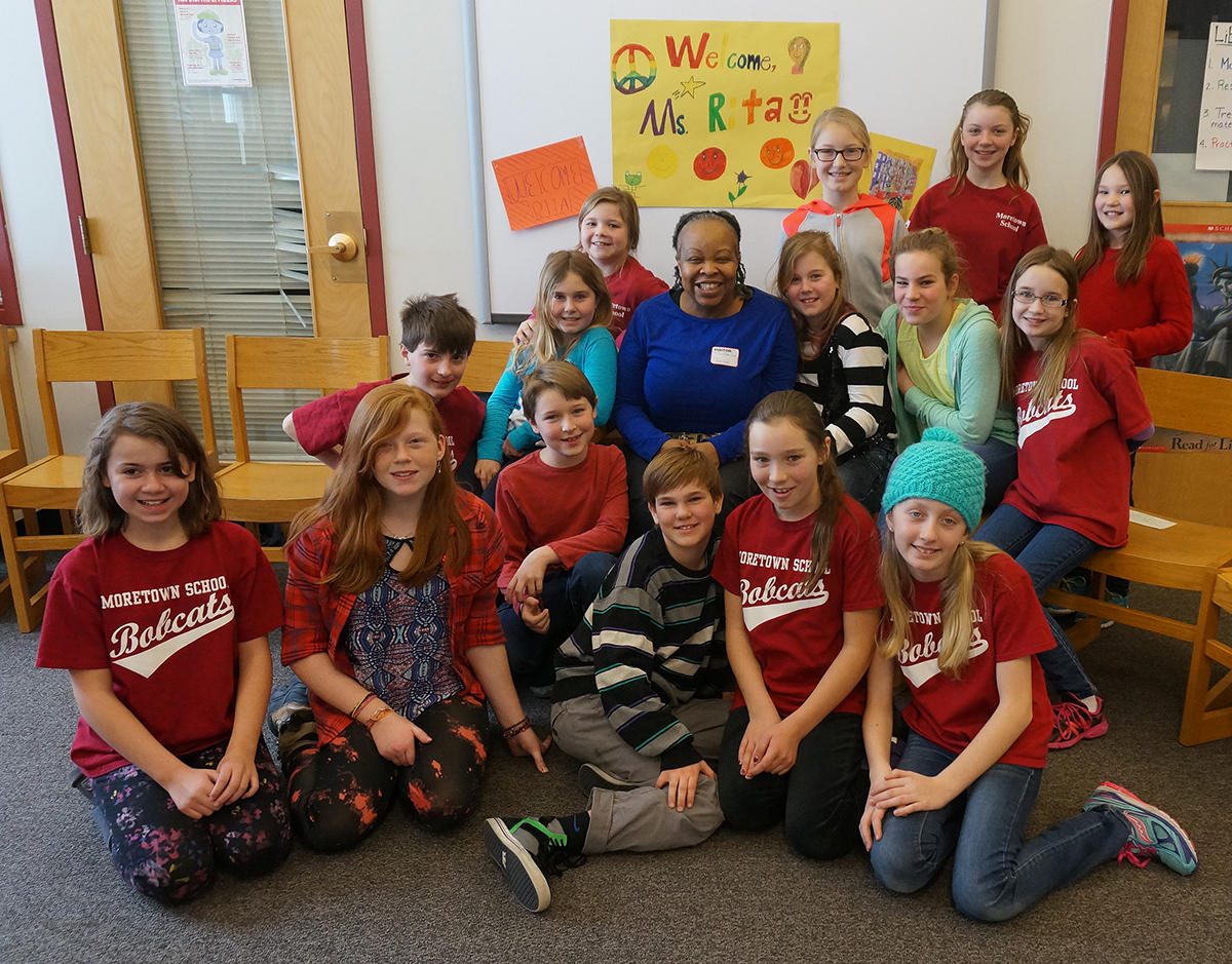 Author Rita Williamsgarcia Stopped By The Moretown School To Meet A Group  Of Fourth, Fifth And Sixth Graders Reading