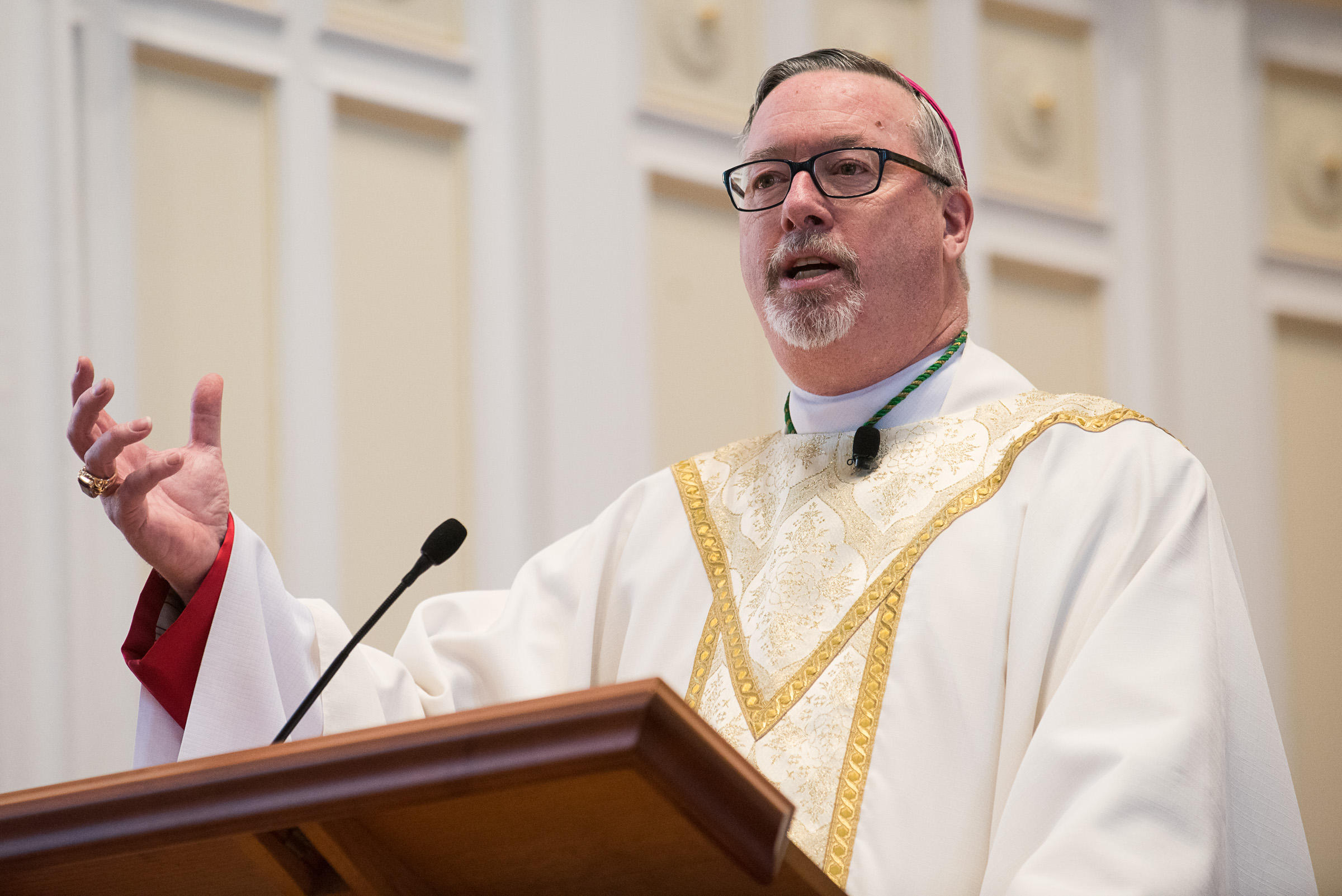 After traveling with the pope burlingtons bishop reflects the rev christopher coyne speaks at st joseph co cathedral in burlington on kristyandbryce Image collections