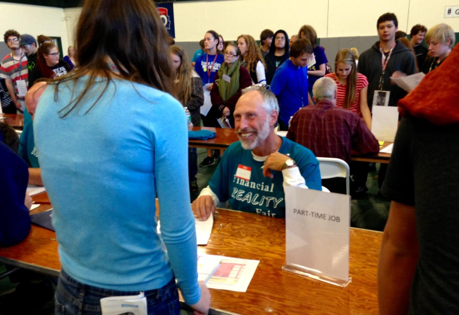 this isn t as easy as i thought teens learn to budget for life this man was one of about 90 volunteers who staffed rutland county s first financial reality fair the event was organized by the nonprofit rutland regional