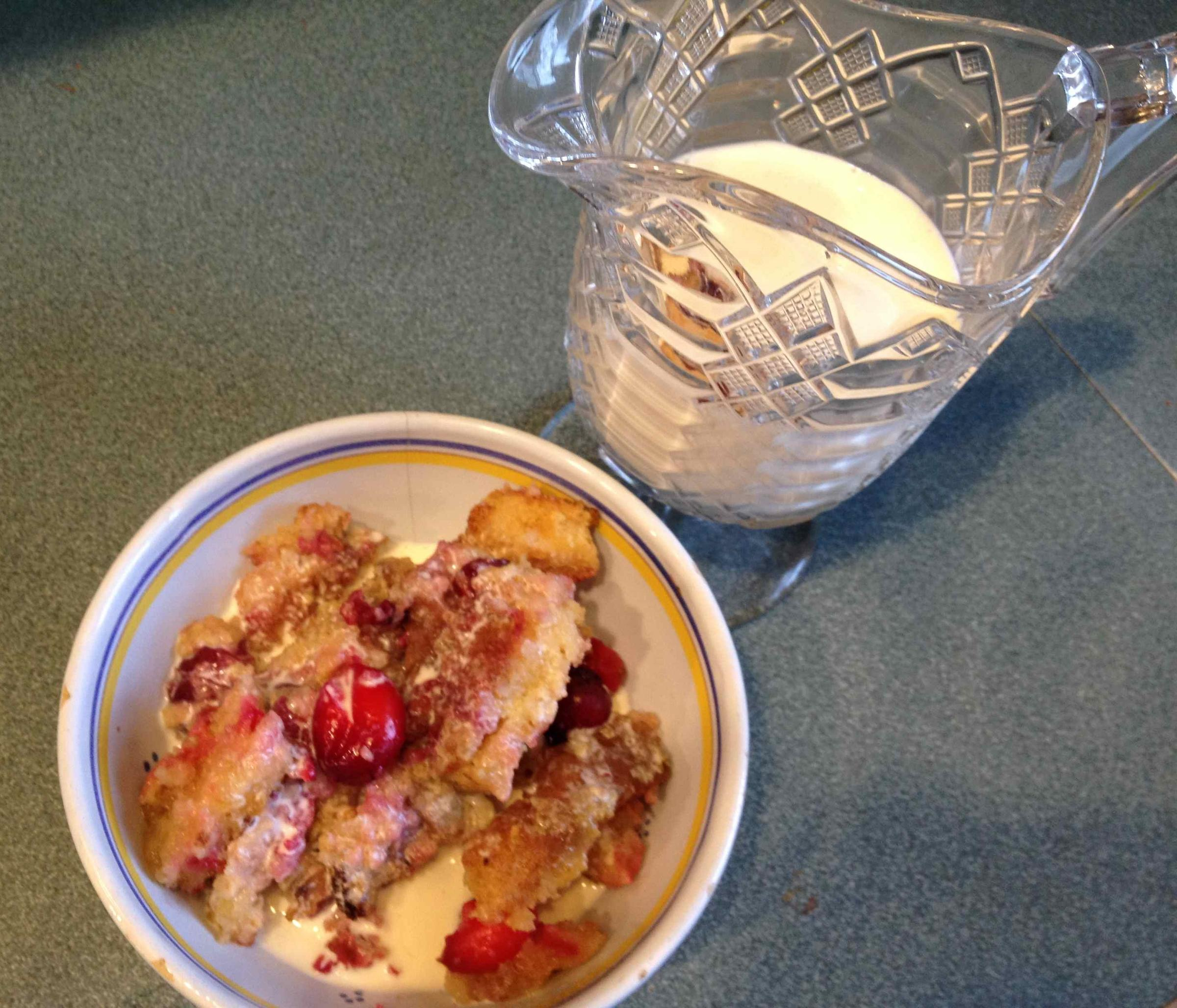 ... tradition, Candace Page suggests maple cranberry bread pudding