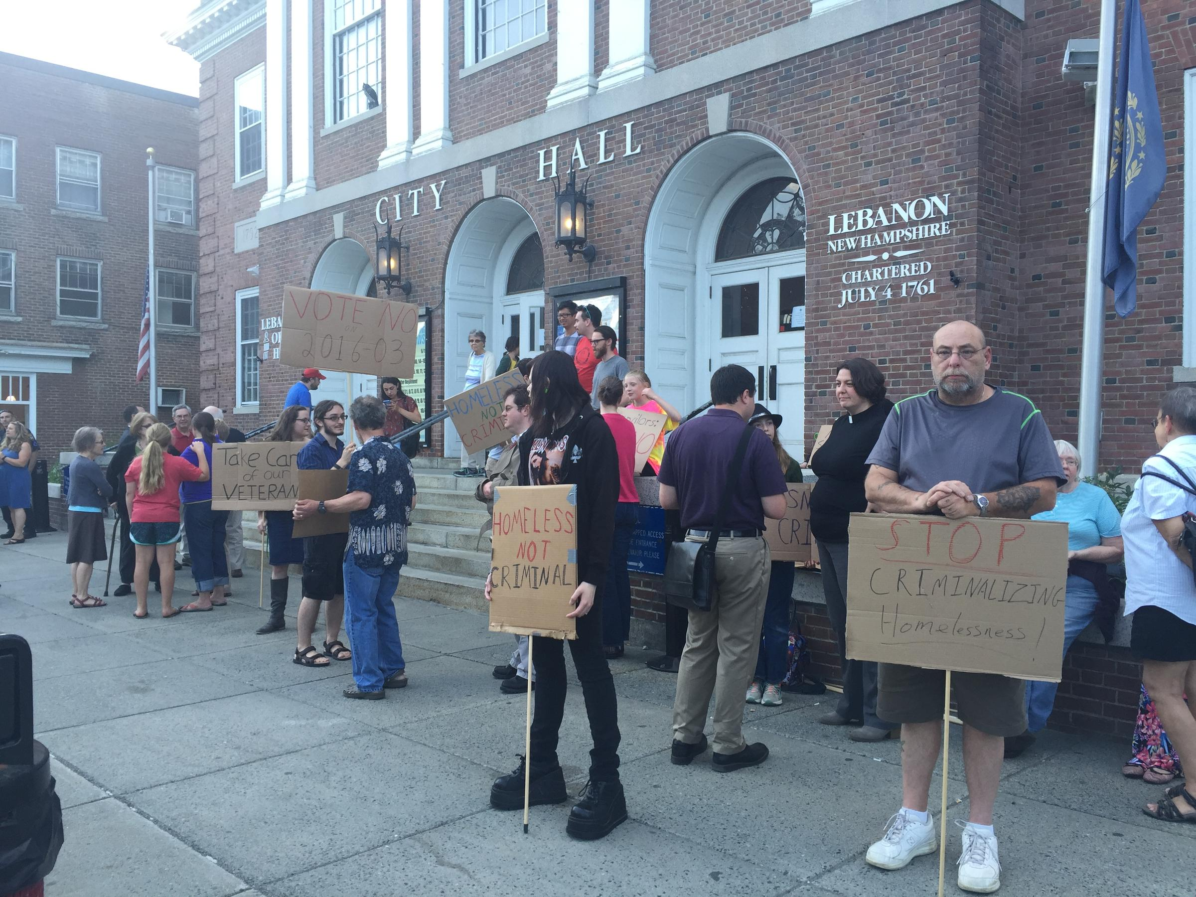 City manager government card - Protestors Gathered Outside City Hall In Lebanon N H Wednesday Ahead Of A City Council Meeting