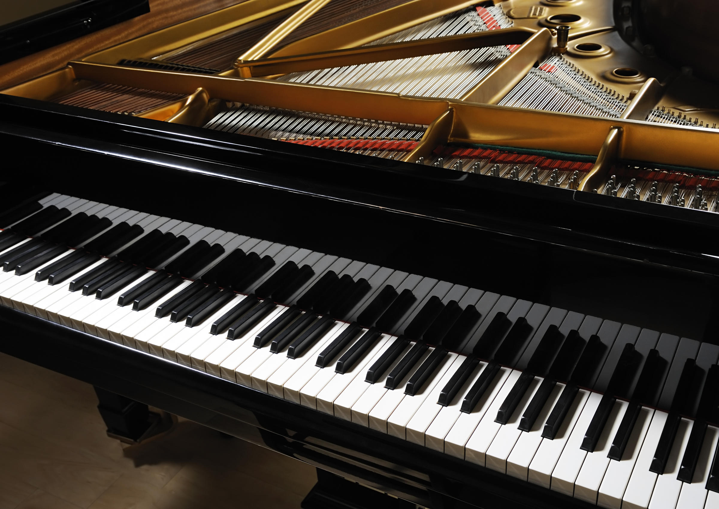 How do piano keys make sound vermont public radio for How big is a grand piano