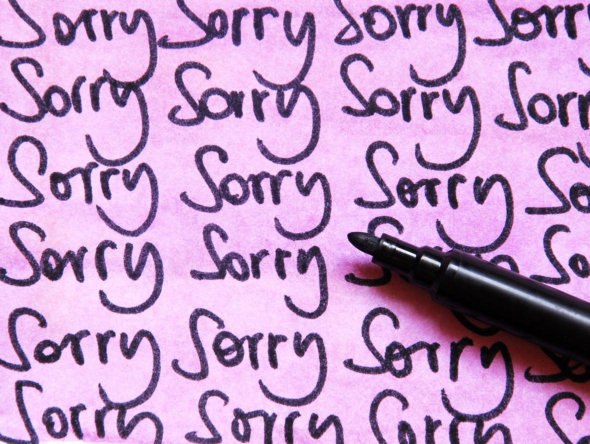 sorry but study finds apologizing doesn t help with rejection