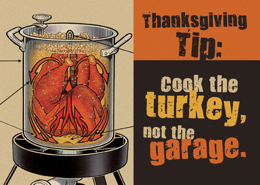 Fry The Turkey Not The Garage Deep Frying Turkey Safety