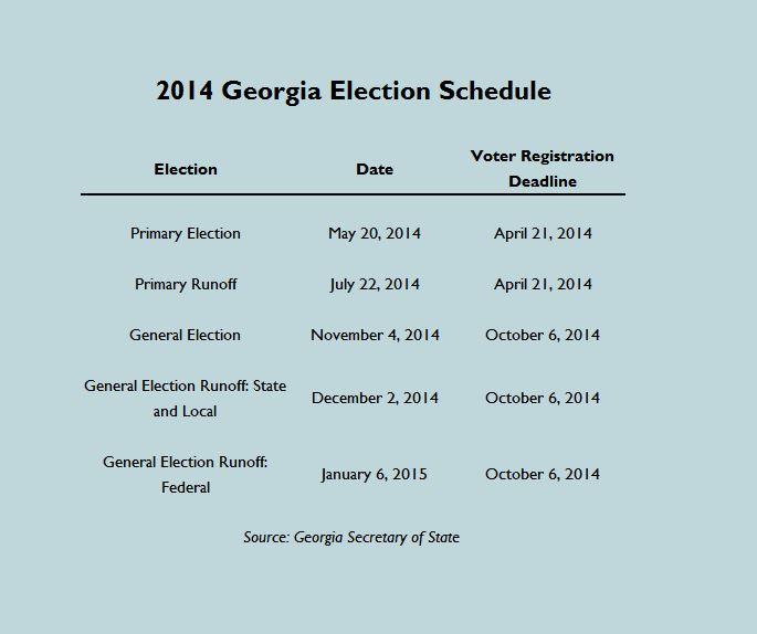 Georgia primary date