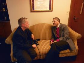Atlanta's new Episcopal Bishop, Robert Wright, talking with WABE's Denis O'Hayer in the Bishop's office on November 19th, 2012