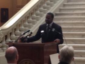 Atlanta Mayor Kasim Reed, who spoke at a grant announcement Friday at the State Capitol, wasn't pleased with McKay's comments.