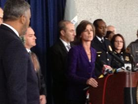 U.S. Attorney Sally Yates announces the arrest of 10 Atlanta-area officers accused of protecting drug traffickers.