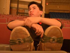 Students like Preston Choi sometimes practice with washers or quarters duct taped to the soles of their shoes.