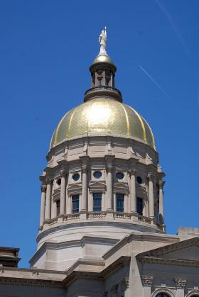 The dome of the Georgia State Capitol.