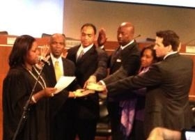 New DeKalb school board members being sworn in