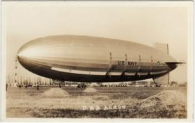 The USS Akron, seen here, crashed on April 4, 2013 off the coast of New Jersey.  It's considered the world's worst airship disaster.