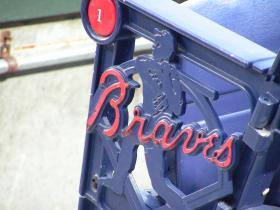 Aaron's image on the seats at Turner Field