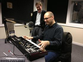 Matt Kaminski plays for John Lemley in the WABE studios