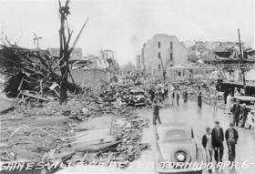 A view of Gainesville, Georgia following the April 6, 1936 tornado