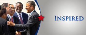 In this image from the website of Fulton County Commission Chairman John Eaves, he is shown shaking hands with President Barack Obama, as a smiling Atlanta Mayor Kasim Reed looks on.  (Between them is DeKalb County CEO Burrell Ellis.)
