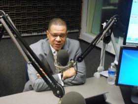 Fulton County Commission Chairman John Eaves, during his interview with WABE's Denis O'Hayer, at the station's studios, May 16, 2013.