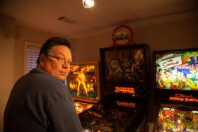 Al Warner, pinball machine collector.
