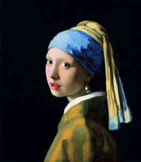 Johannes Vermeer's Girl with a Pearl Earring, ca. 1665